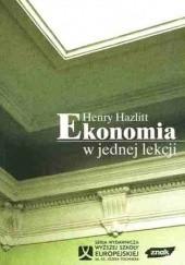 Okładka książki Ekonomia w jednej lekcji Henry Hazlitt