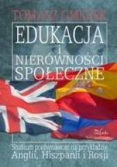 Okładka książki Edukacja i nierówności społeczne Tomasz Gmerek