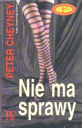 Okładka książki Nie ma sprawy Peter Cheyney