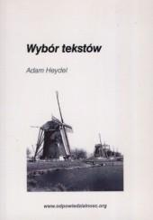 Okładka książki Wybór tekstów Adam Heydel