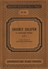 Okładka książki Obrońcy chłopów w literaturze staropolskiej Mieczysław Piszczkowski