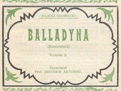 """W przyszłym roku czytamy """"Balladynę"""""""