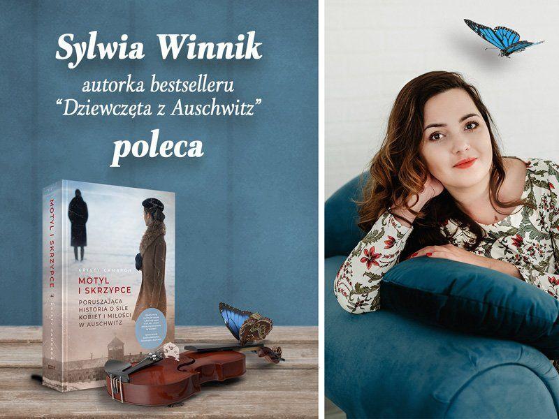 """Autorka """"Dziewcząt z Auschwitz"""" poleca książkę """"Motyl i skrzypce"""""""